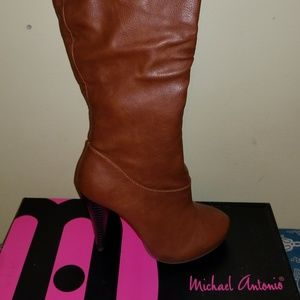 Michael Antonio OTK Boots Cognac/Brown size 8